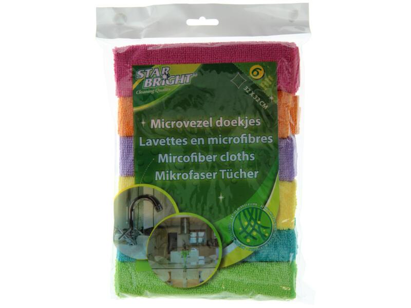 Cool Cleaning lavettes microfibre 6 pièces