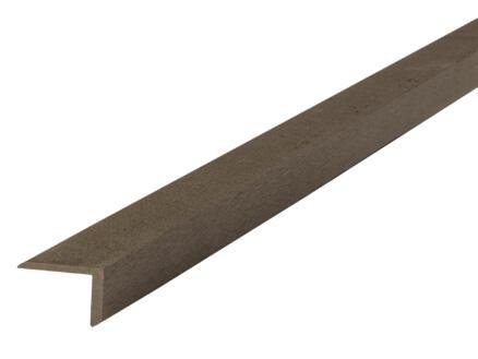 Cornière 45x45x5 mm composite brun