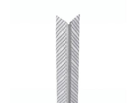 Cornière d'angle pour plafonnage 2,5m 33x33 mm acier