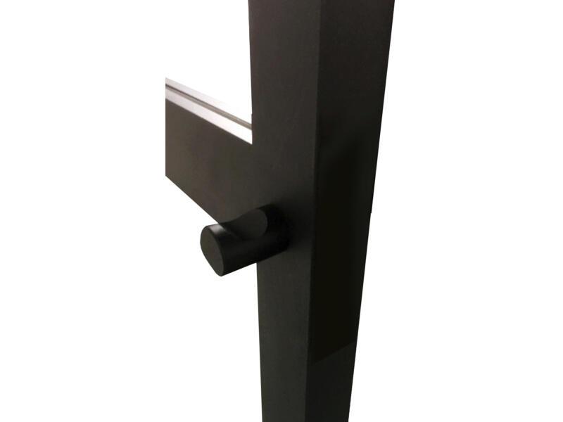 Solid Cosmos bouton de porte rond 40mm aluminium noir