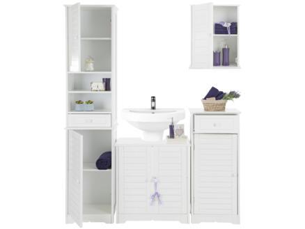 Practo Home Cottage Onderkast 40cm 1 deur + 1 lade wit