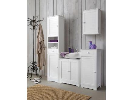 Practo Home Cottage meuble lavabo 40cm 1 porte + 1 tiroir blanc