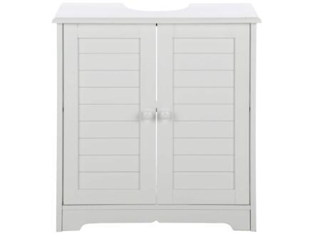 Practo Home Cottage meuble lave-mains 60cm 2 portes blanc