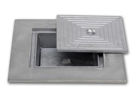 Couvercle de puits double 40x40 cm aluminium