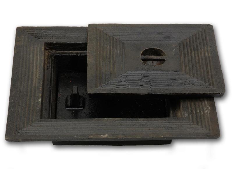 Couvercle de puits double 40x40 cm fonte