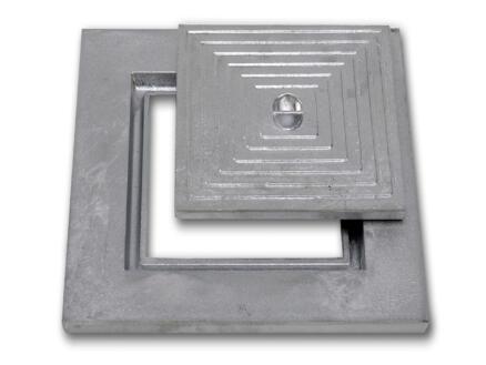 Couvercle de puits simple 30x30 cm aluminium