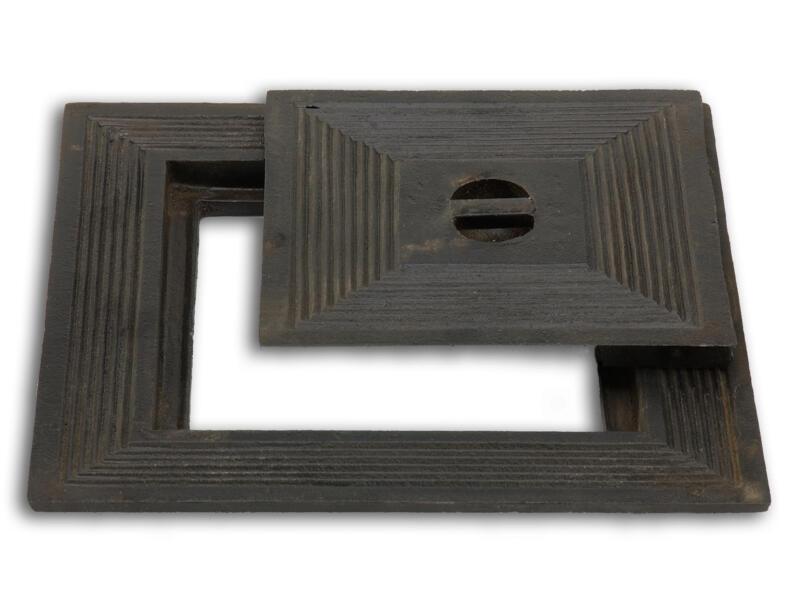 Couvercle de puits simple 30x30 cm fonte