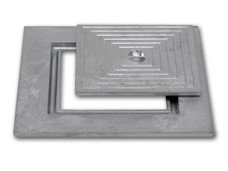 Couvercle de puits simple 40x40 cm aluminium
