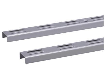 Crémaillère double 100cm aluminium 2 pièces