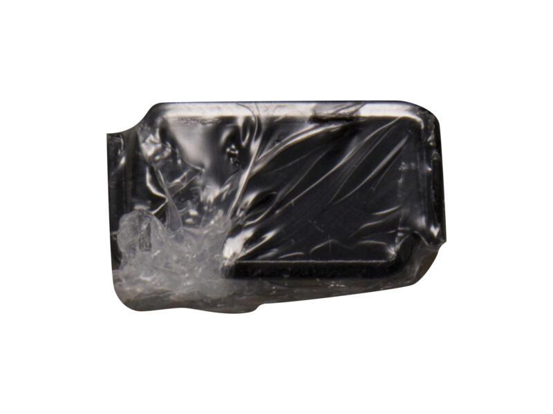 Crémaillère double 100cm noir 2 pièces
