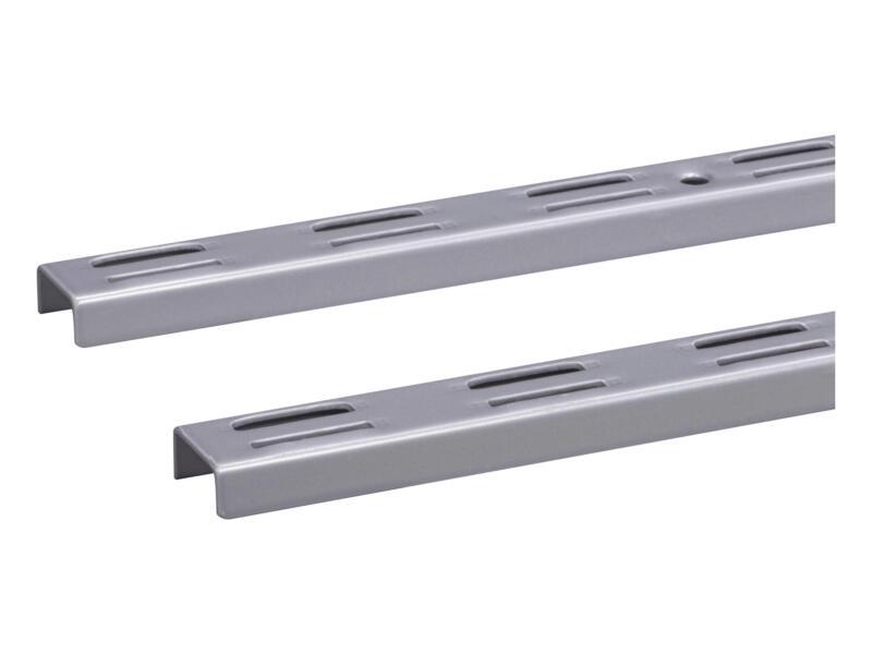 Crémaillère double 150cm aluminium 2 pièces