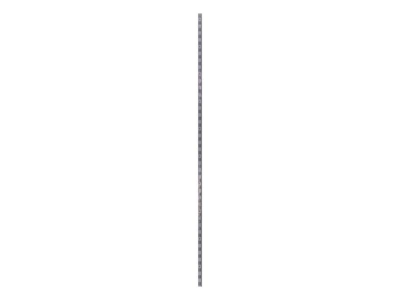 Crémaillère double 200cm blanc 2 pièces