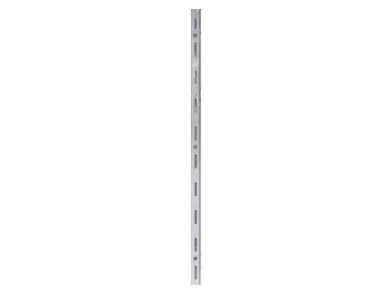 Crémaillère simple 50cm blanc 2 pièces