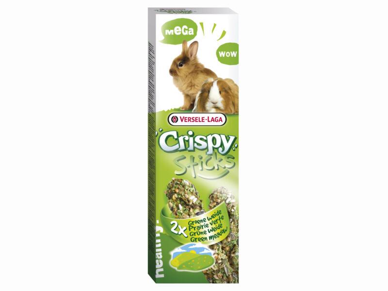 Crispy Mega Sticks sticks à ronger lapins & cobayes prairie verte 2 pièces