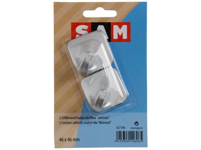 Sam Crochet autocollant diamant gris 2 pièces
