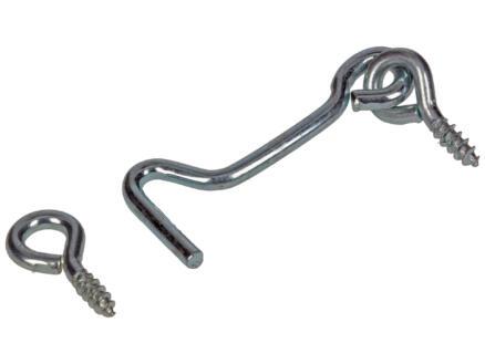 Mack Crochet contrevent acier zingué 3x50 mm 2 pièces
