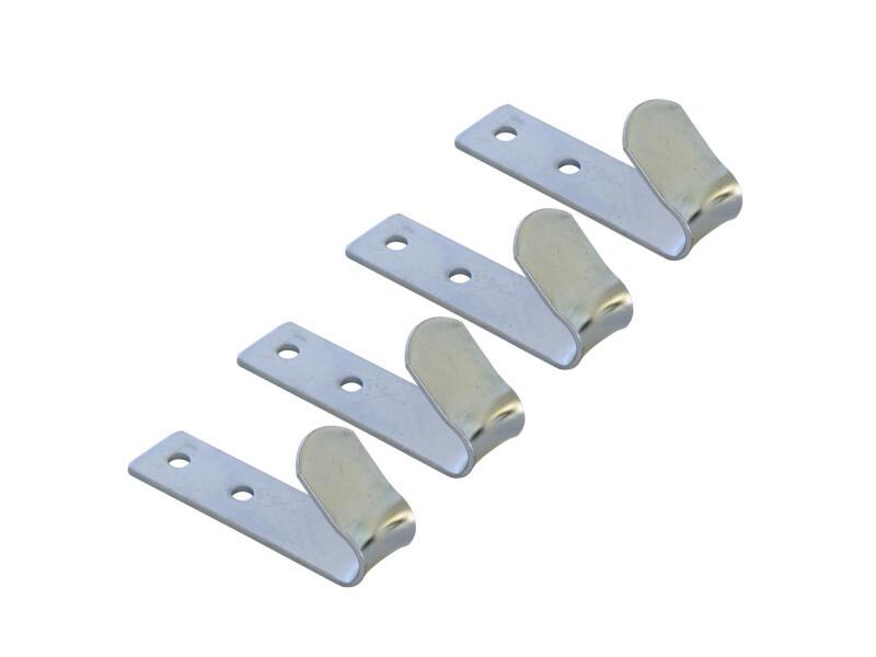 Carpoint Crochet de bâche à visser métal 72mm 4 pièces