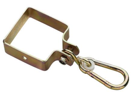 Crochet de balançoire carré 9x9 cm jaune