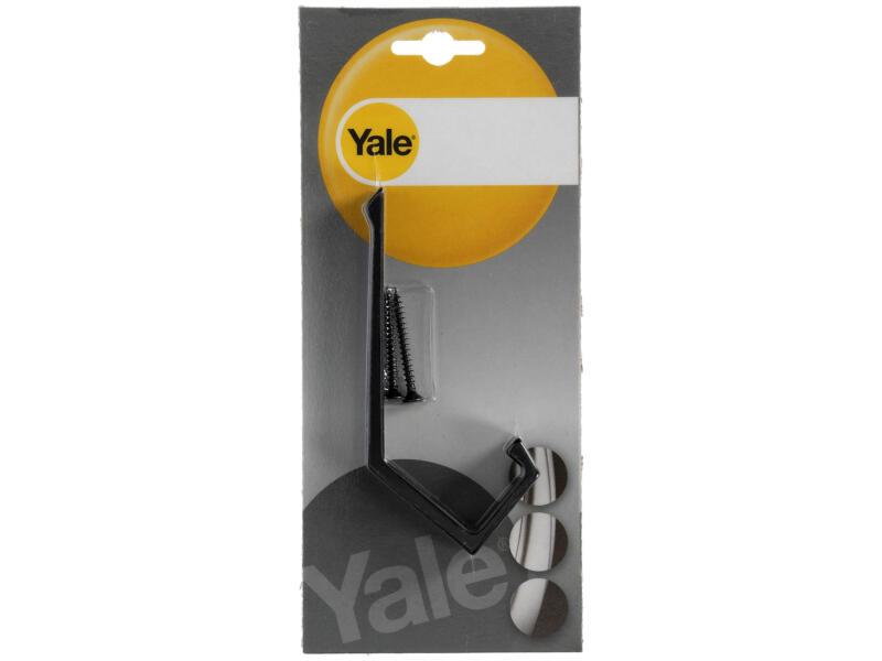 Yale Crochet portemanteau double grand aluminium noir