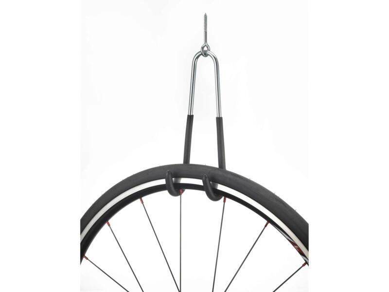 Crochet vélo à fixer au plafond 10cm 2 pièces
