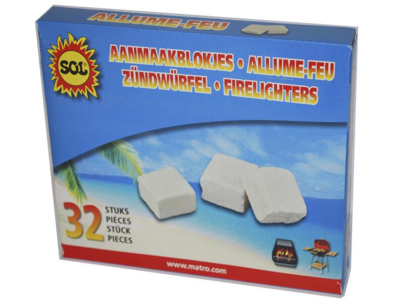Cubes allume-feu 32 pièces
