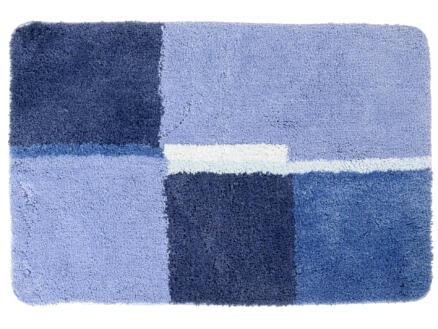 Differnz Cubes badmat 90x60 cm blauw
