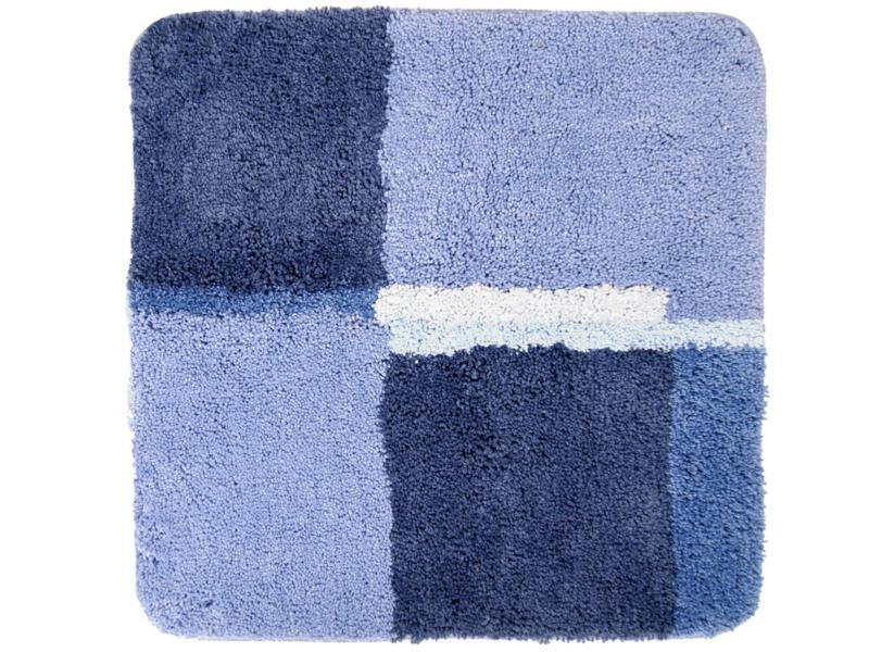 Differnz Cubes tapis de bain 60x60 cm bleu