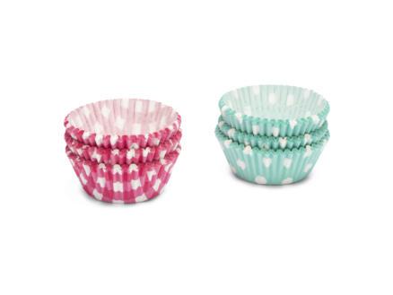 Cupcake vorm stippen/ruiten 5cm 200 stuks