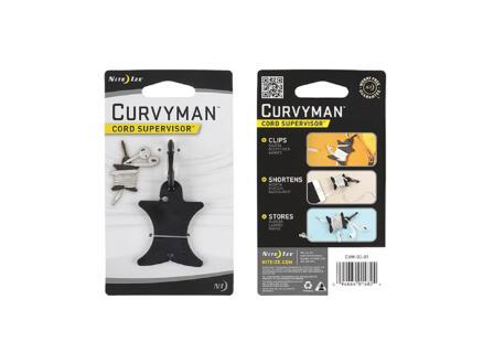 Nite Ize CurvyMan koptelefoon kabel organisator zwart
