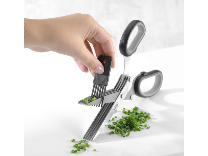 Gefu Cutare ciseaux à herbes avec peigne de nettoyage