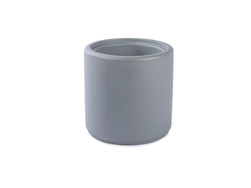 Cylindrus poef/bloempot grijs