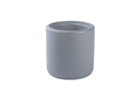 Cylindrus pouf/pot à fleurs gris