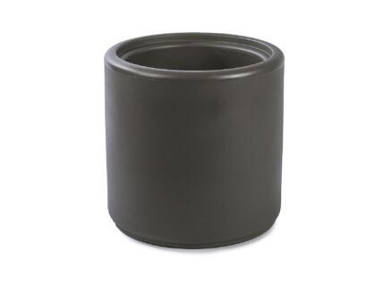 Cylindrus pouf/pot à fleurs taupe