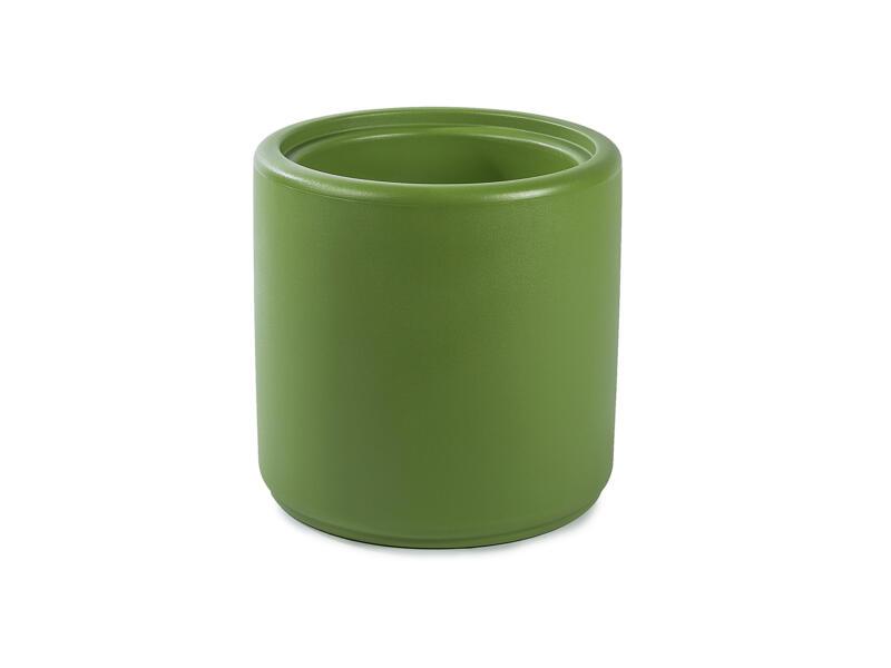 Cylindrus pouf/pot à fleurs vert olive