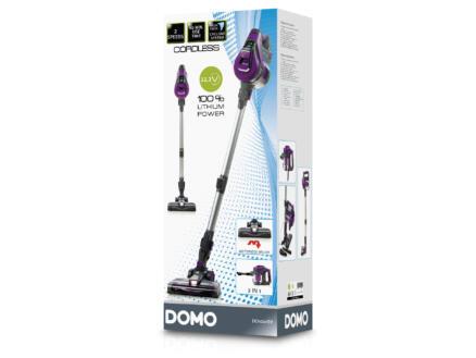 Domo DO1001SV aspirateur balai sans fil sans sac 2-en-1 22,2V