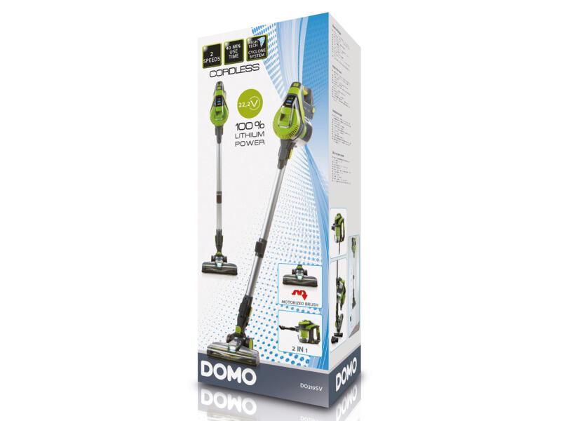 DOMO DO219SV 2-in-1 draadloze steelstofzuiger zonder zak 22,2V