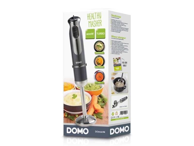 Domo DO9067M mixeur plongeant + presse-purée 800W gris