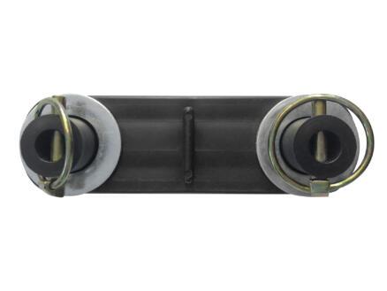 DS rijplaat connector voor 2 platen 12mm