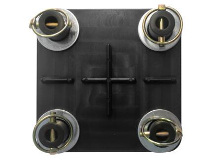 DS rijplaat connector voor 4 platen 12mm