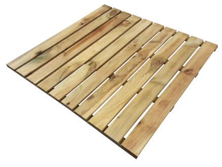 Dalle de jardin 100x100x3 cm 1m² bois de pin
