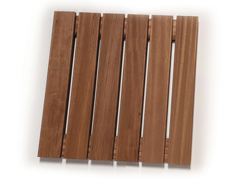 Dalle de jardin 60x60x3,8 cm 0,36m² bois dur