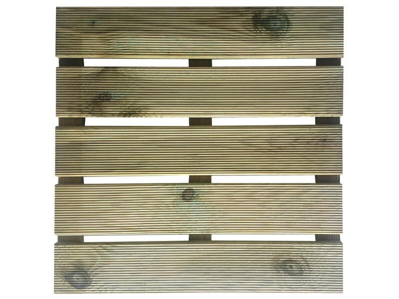 Dalle de terrasse 50x50 cm 0,25m² bois