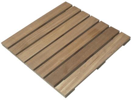 Dalle de terrasse 50x50x2,4 cm 0,25m² bois dur