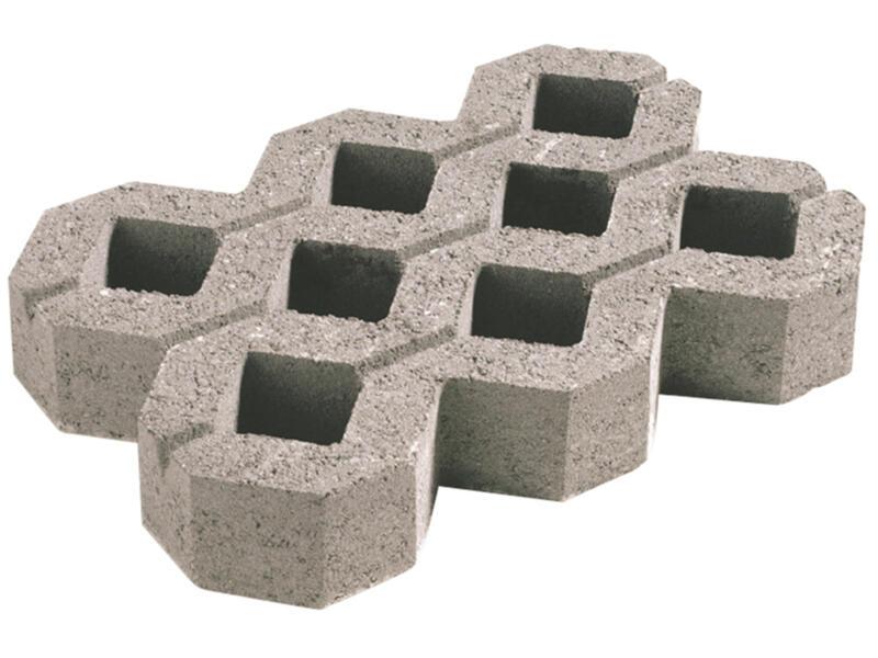 Dalle gazon 60x40x10 cm 0,24m² béton gris