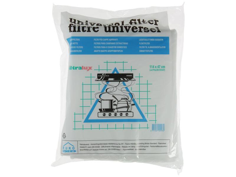 Dampkapfilter universeel 57x47 cm 2 stuks