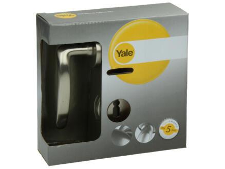 Yale Danilio BB deurklinkset op rozet 49mm mat vernikkeld