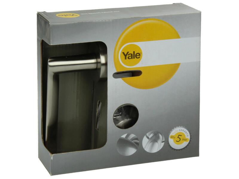 Yale Dario BB deurklinkset op rozet 51mm mat vernikkeld