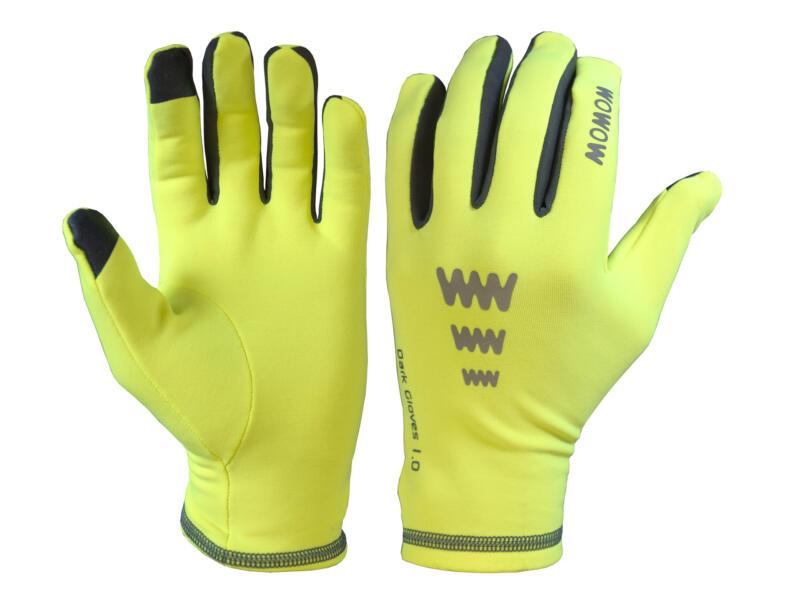 Dark Gloves 1.0 fietshandschoenen M fleece fluogeel