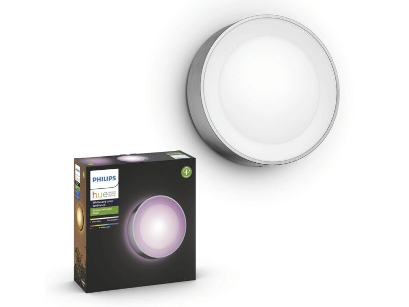 Philips Hue Daylo White and Color Ambiance LED wandlamp 15W dimbaar inox