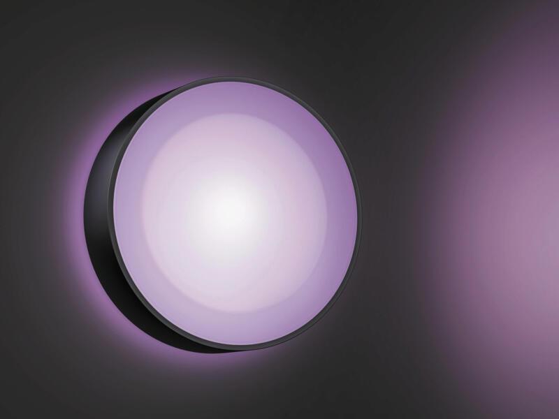 Philips Hue Daylo White and Color Ambiance LED wandlamp 15W dimbaar zwart